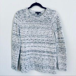 Ann Taylor black & white chunky knit sweater M